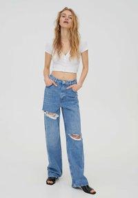 PULL&BEAR - Jeans Straight Leg - stone blue denim - 1