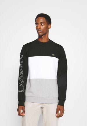 Sweatshirt - black/white silver chine