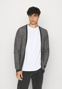 Selected Homme - SLHNEWJEFF OPEN  - Cardigan - anthracite/egret - 0