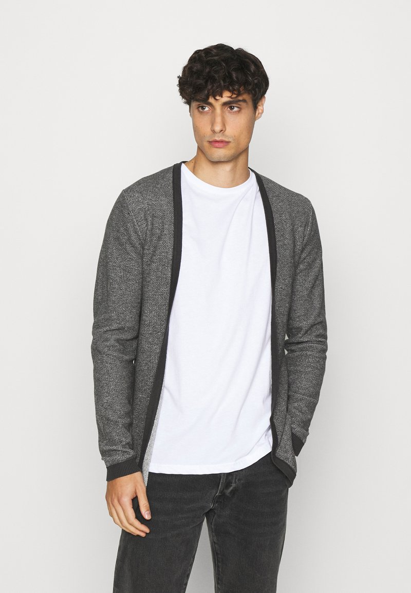 Selected Homme - SLHNEWJEFF OPEN  - Cardigan - anthracite/egret
