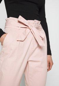 Vero Moda - VMEVA LOOSE PAPERBAG COLOR - Trousers - sepia rose - 5