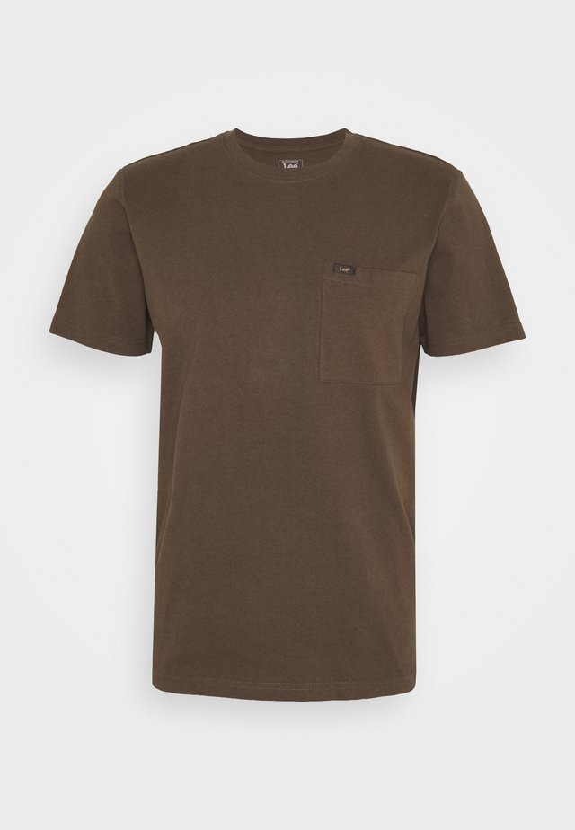 POCKET TEE - T-shirt basic - turkish coffee
