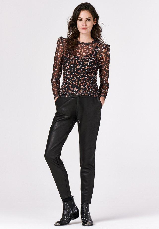 TEE LS MILLEFLEUR - Long sleeved top - black