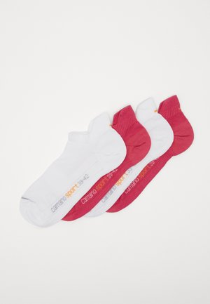 ONLINE SPORT UNISEX FASHION SNEAKER 4 PACK - Trainer socks - pink/white