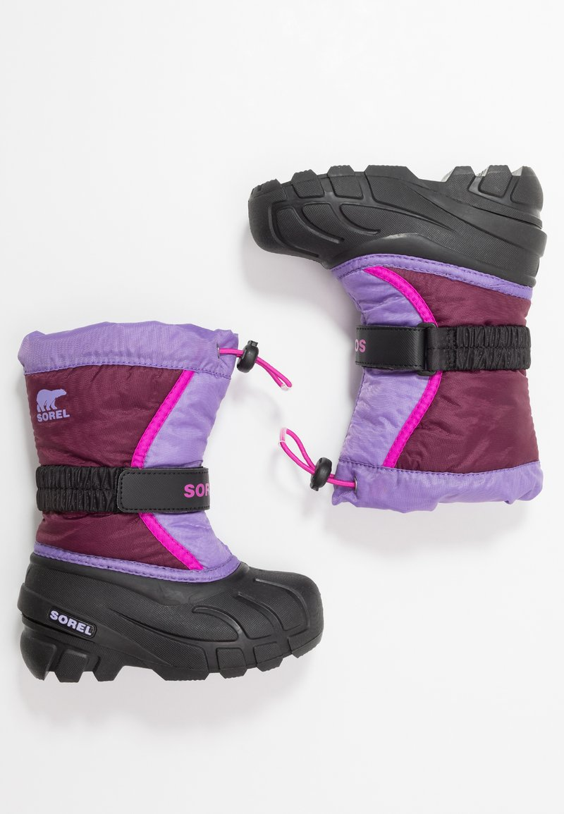 Sorel - YOUTH FLURRY - Zimní obuv - purple dahlia/paisley purple