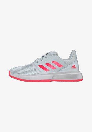 COURTJAM - Clay court tennis shoes - sky tint/signal pink/footwear white