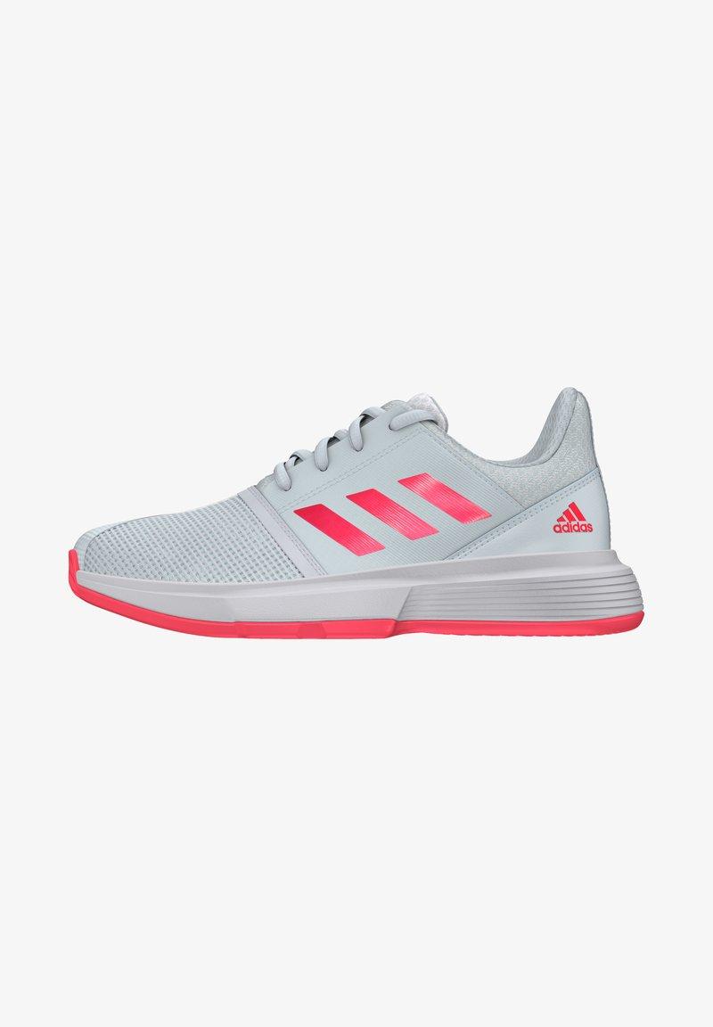adidas Performance - COURTJAM - Zapatillas de tenis para tierra batida - sky tint/signal pink/footwear white