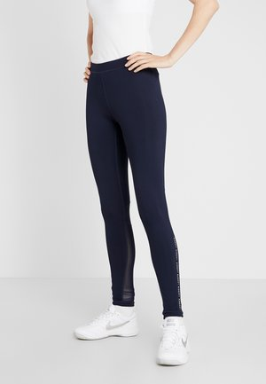 Leggings - navy blue/white