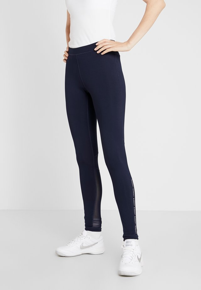 Legginsy - navy blue/white