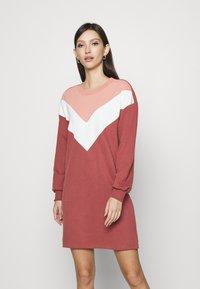 ONLY - ONLASHLEY DRESS  - Kjole - rose dawn/color blocking rose/cd/ap - 0