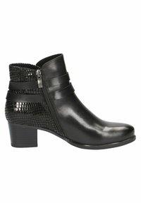 Caprice - STIEFELETTE - Korte laarzen - black comb - 3