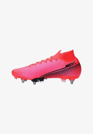 Moulded stud football boots - rotschwarz