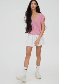 PULL&BEAR - Spódnica trapezowa - white - 8