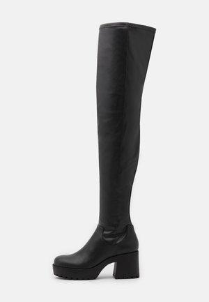 AMOSHI BOOT VEGAN - Høye støvler - black