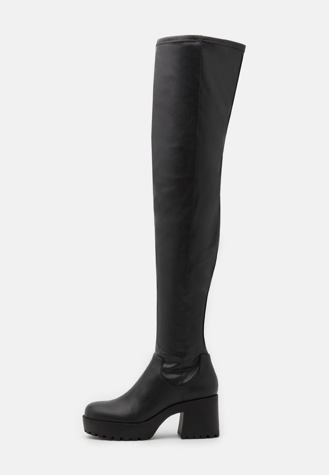 AMOSHI BOOT VEGAN - Cuissardes - black