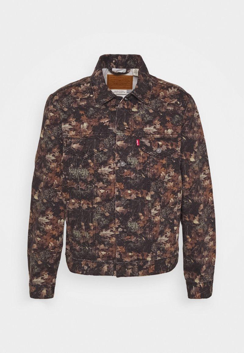 Levi's® - VINTAGE FIT TRUCKER UNISEX - Džínová bunda - olive/black/brown