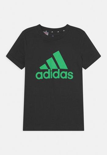 UNISEX - T-shirt print - black/semi screaming green