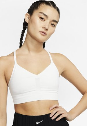 INDY SEAMLESS BRA - Light support sports bra - summit white/platinum tint