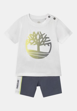 SET - Print T-shirt - white/grey