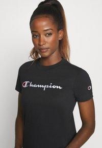 Champion - CREWNECK ROCHESTER - T-shirts med print - black - 3