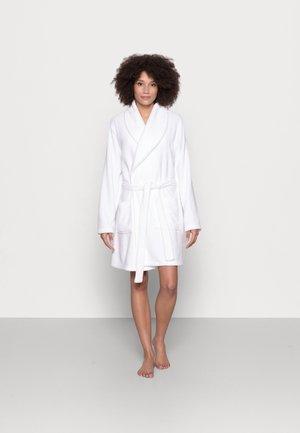 LADIES PLUSH BATHROBE  - Dressing gown - white