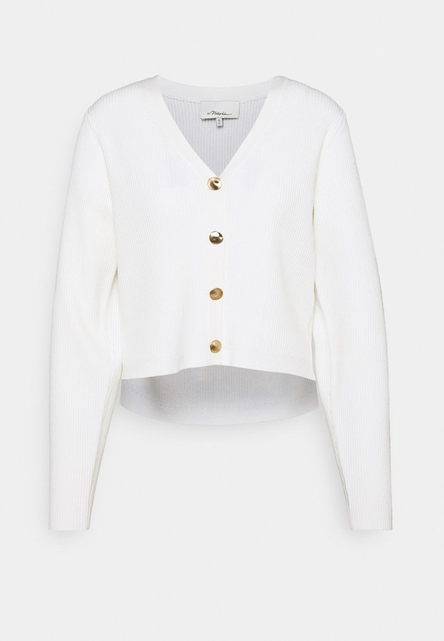 SHANK BUTTONS - Cardigan - white