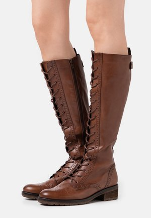 Lace-up boots - caramello