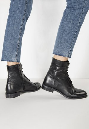 Lace-up ankle boots - black blk