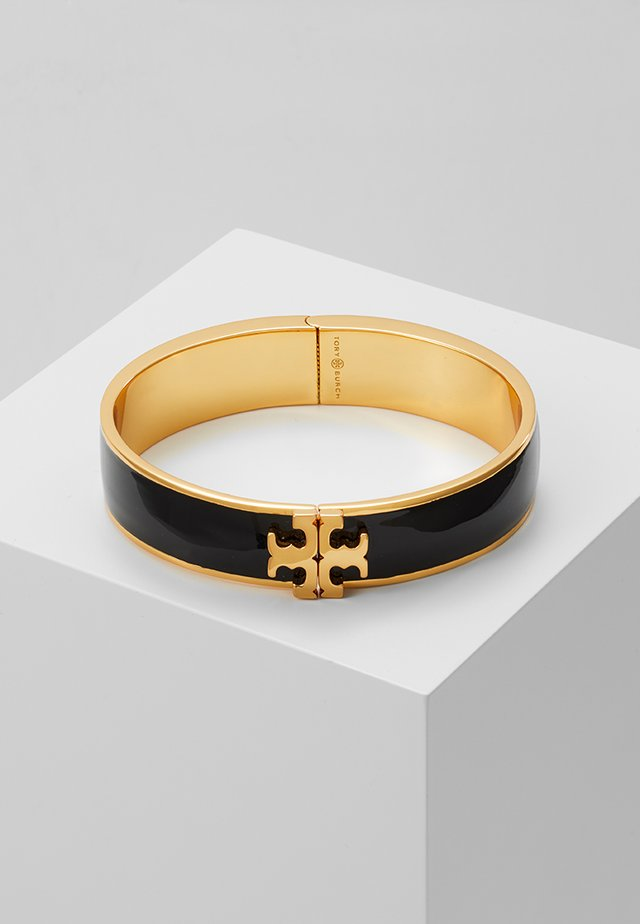 RAISED LOGO THIN HINGED BRACELET - Rannekoru - black/gold-coloured