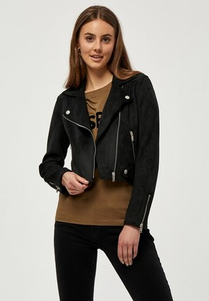 TABARAK - Faux leather jacket - jet black