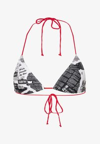 Jaded London - TRIANGLE NEWSPAPER PRINT - Bikini top - black/white - 3