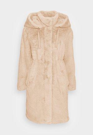 VMSUIEIRKA LONG HOODED COAT - Winter coat - oetmeal