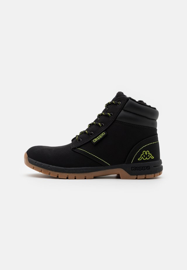 CAMMY UNISEX - Hiking shoes - black/lime