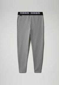 Napapijri - M-BOX LEGGINGS - Leggings - Trousers - medium grey melange - 7