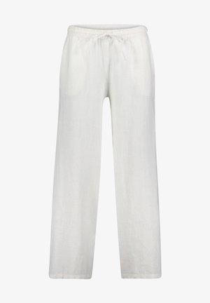 MIT BINDEGÜRTEL - Trousers - weiß