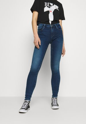 ONLCARMEN JOG - Jeans Skinny Fit - dark blue denim