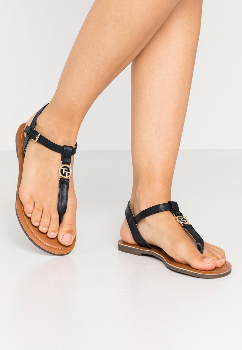 TOM TAILOR - T-bar sandals - navy