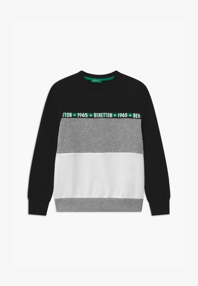 BASIC BOY - Collegepaita - black/white/grey