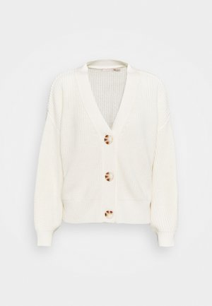 CARDIGAN V NECK - Neuletakki - off white