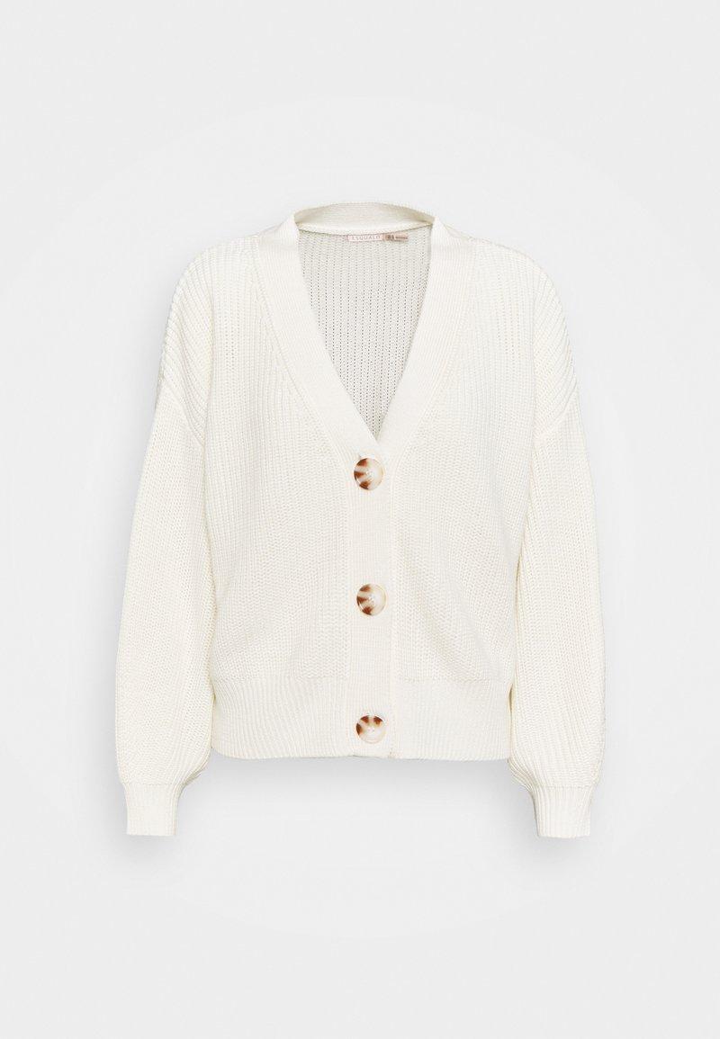Esqualo - CARDIGAN V NECK - Strikjakke /Cardigans - off white