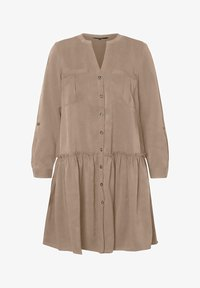 V-AUSSCHNITT - Shirt dress - silver mink