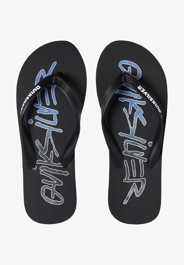 Tongs - black/blue/white