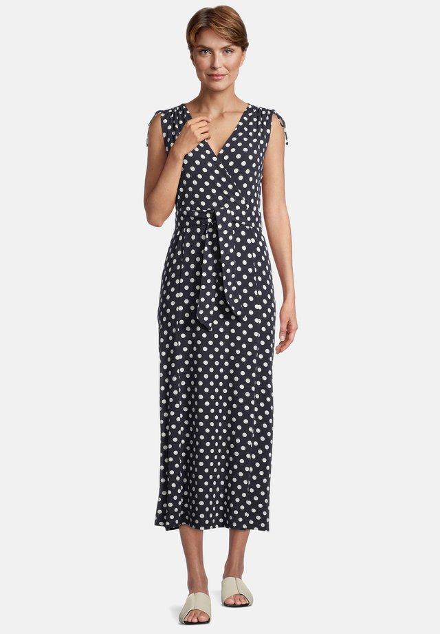 Day dress - dunkelblau/weiß