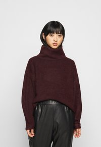 New Look Petite - FASH SLOUCHY ROLL NECK - Svetr - dark burgundy - 0