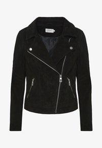 ONLRILEY  - Leather jacket - black