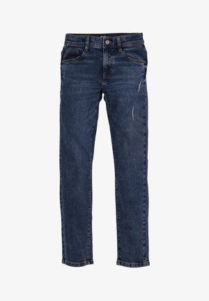 PANTALON - Straight leg jeans - dark blue stretche