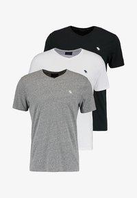 VNECK 3 PACK - T-shirt basique - white/black/grey