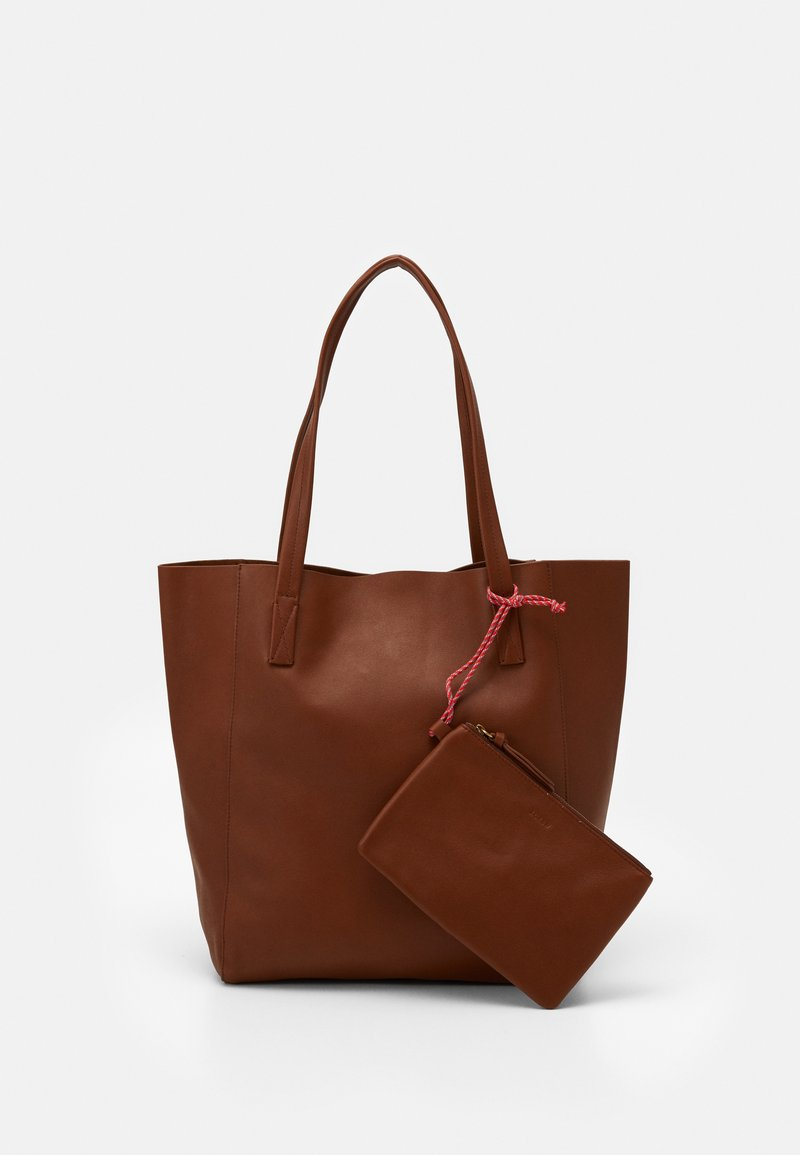 J.CREW - UNLINED NORTH SOUTH TOTE - Tote bag - warm sepia