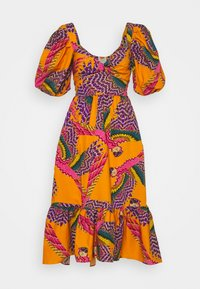 Farm Rio - BEADED MACAWS MIDI DRESS - Day dress - orange - 0