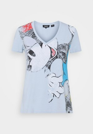 MINNIE - T-shirt z nadrukiem - light blue